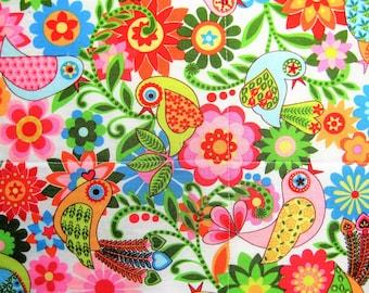 Baby Quilt,Bird Quilt, Flower Quilt, Toddler Quilt, Girl Quilt, Handmade