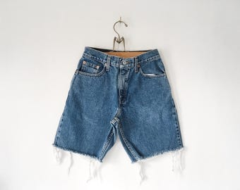Vintage 90s Levi's Denim Cut Offs - High-waisted cut-off Shorts
