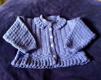 Hand Knitted Young Girls Cardigan
