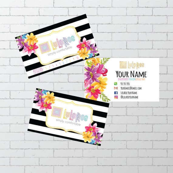 Lularoe business card personalized digital by for Lularoe name cards