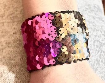 Color changing mermaid sequin bracelet