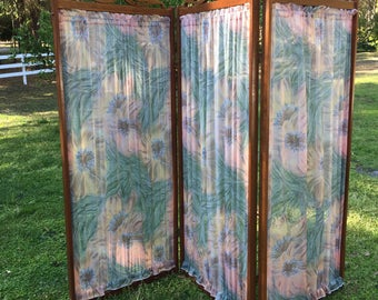Folding screen, room devider, privacy screen, custom made,removable panels