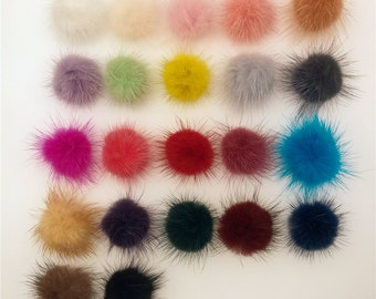 10pieces 30mm Fluffy Mink Fur Ball jewelry findings hair findings Dress Accessory