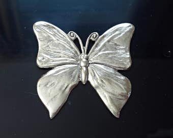 one Large Vintage  Brass stamping butterfly Jewelry Findings.made in USA /zm2