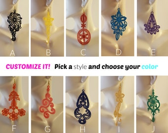 Custom Lace earrings Additional Colors Lace jewelry Bridal jewelry sets Wedding jewelry sets Statement earrings Bridesmaids earrings
