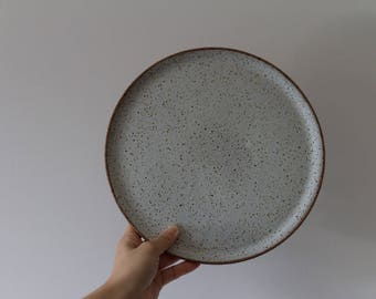 Moonscape Dinner Plate - dinner plate, stoneware plate, made to order in 2 months