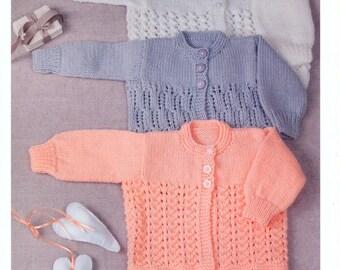 1f325aaa95499 Baby Cardigan and Sweater Knitting Pattern UKHKA 53