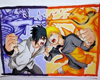 Naruto vs Sasuke Final Battle || Naruto Shippuuden || ORIGINAL DRAWING