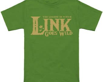 legend-of-zelda botw skyward sword hyrule warriors zelda shirt --- alternative apparel : Link Gone Wild