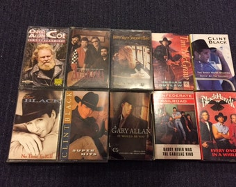 1990's Country Music Cassette Assortment