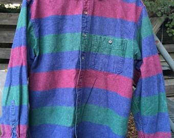 Vintage Eddie Bauer Flannel with Stripes