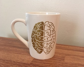 Gold Brain - Gold Anatomy set - A Beautiful Mind - If you can Dream it, you can do it. - customizable mug