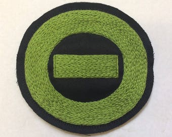 Hand Embroidered Type O Negative Patch