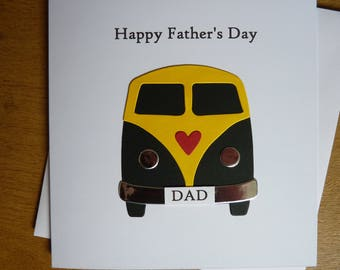 Fathers Day card - Father's Day card - card for Dad - camper van card- vw camper