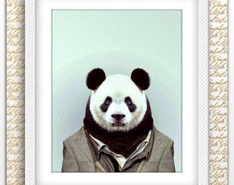 Panda man print, Panda Print, Panda printable, Panda poster, Panda art, Panda wall art, Printable Panda, Animal Wall Art, Animals printable
