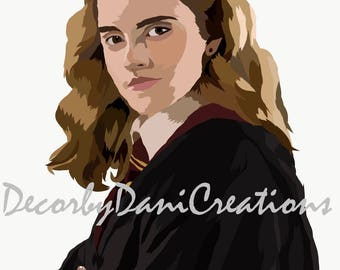 Hermione Granger Illustrated Print