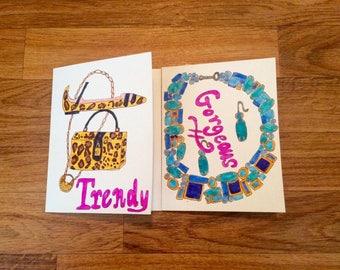 Chic Greeting Card, Fashion Cards, Fashion Note Cards,FASHION GREETING CARDS,Fashion Illustration Cards, Birthday Card,Fashionista Gift