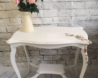 Shabby chic floral occasional table