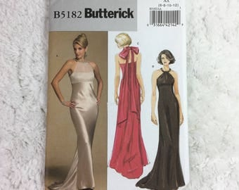 Butterick 5182 Sewing Pattern for Misses' Dress Size 6-12 / evening gown / prom dress / formal gown / party dress / ladies' fashion
