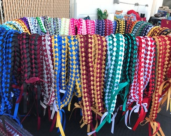 Ribbon Leis for Graduation ,Senior Night or Award Banquets