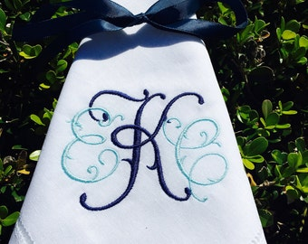 Monogrammed Linen Napkins, Set of 4 +