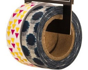 Pink & Navy Washi Tape Perfect for Scrapbooks, Cards, Gift Packaging, Labels, Calendars, and so much more.