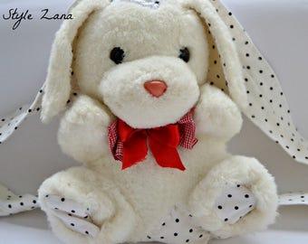 Bunny Easter Gift Idea, Easter Rabbit, Handmade kids easter gift, Easter Bunny, Stuffed Bunny Backpack, Easter backpack, Gift Idea, White