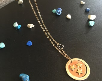 Tri-Star Penny Necklace
