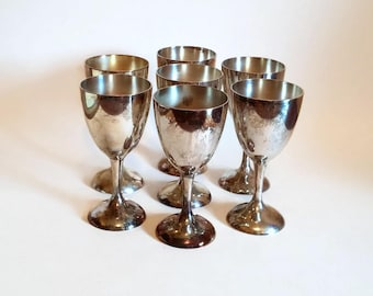 Silver Plated Toasting Goblets