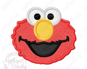 Red Monster Applique Machine Embroidery Design Digital File 4x4 5x7 6x10 8x8 Elmo INSTANT DOWNLOAD