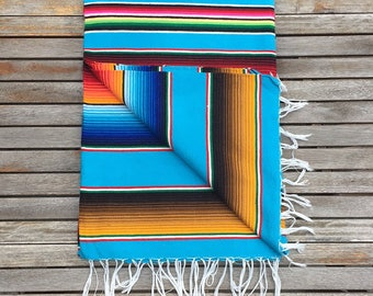 Mexican Blanket - Sky blue