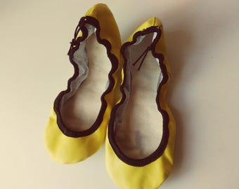 Ballet slippers  leather yellow