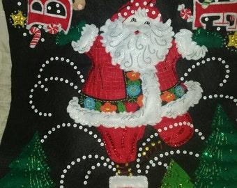 "Bucilla ""Believe"" Santa Wall Hanging 14 3/4 x 21 1/2"