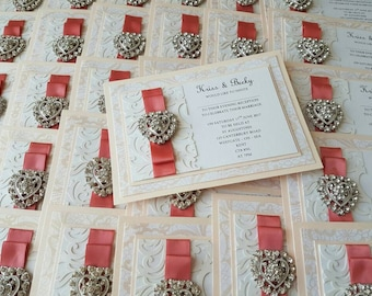 Flat Laser Wedding Invitation. Available in other Colours/Patterns to Suit your Wedding Theme *Sample Listing Only*
