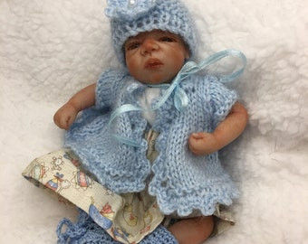 "5.5"" ooak posable, partial clay sculpted baby by TinyToesStudio"