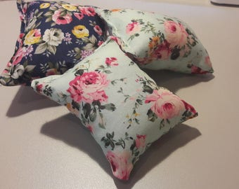 Set of 3 floral pincushions