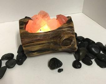 Cedar basin Himalayan Salt Lamp