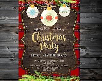 Christmas Invitation,Christmas party Invitations,Holiday Party Invitation,Christmas Invitation Printable,Dinner Invitation