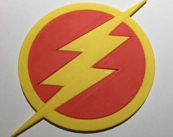 3D Printed The Flash Logo Coaster / Plaque