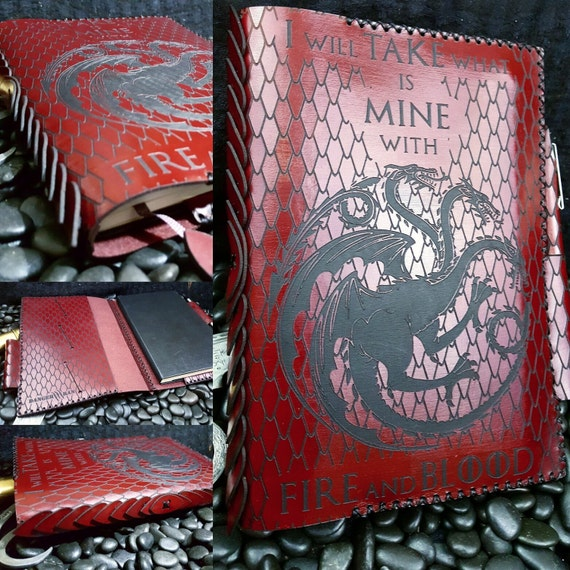 Fire and Blood Moleskine Notebook/Journal Cover