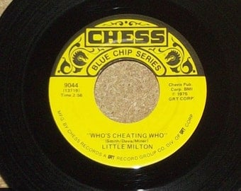 Little Milton Who's Cheating Who b/w Feel so Bad vinyl 45 Blues Record