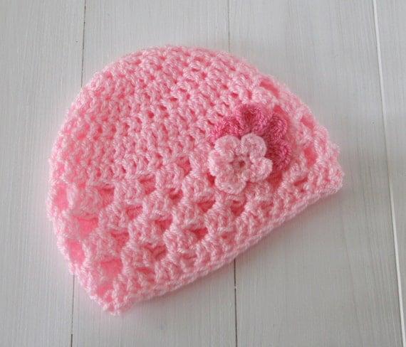 Hat, Baby hat, Baby girl hat, Pink baby beanie, Newborn hat, Newborn girl hat, Baby shower gift, Baby beanie, Newborn beanie, Ready to ship,