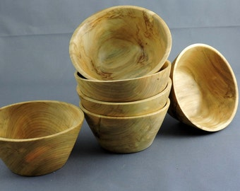Set of six Individual Serving Salad Bowls, Cottonwood Salad Bowls,