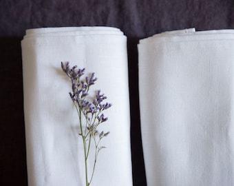 SALE! White linen towel / 46 x 150 cm / natural linen / eco linen / linen bath towel