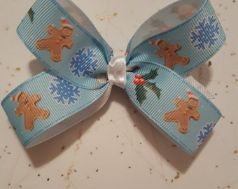 Girls Christmas hairbow, Holiday Hairbows, Winter hairbows, Christmas bows, cookie hairbows,Toddler hairbows, Girls holiday bows
