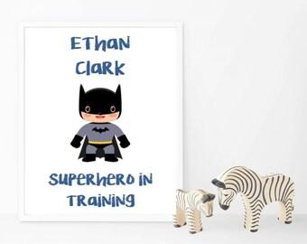 Superhero Name Print