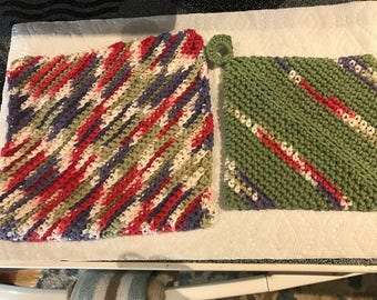 Crochet Dishcloth and Potholder