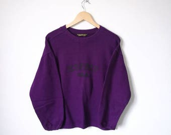 On Sale!! Esprit Usa Embroidery Spell Out Jumper Pullover Sweatshirt Purple Colour