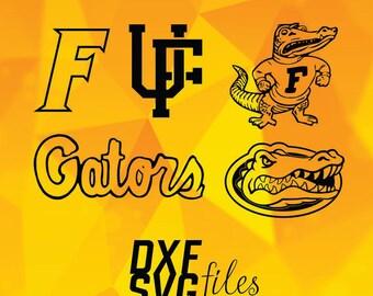 Florida Gators  logos in SVG / Eps / Dxf / Jpg files INSTANT DOWNLOAD!