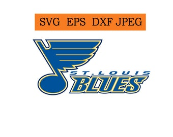 St. Louis Blues logo in SVG / Eps / Dxf / Jpg files INSTANT DOWNLOAD!